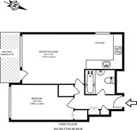 Large floorplan for Rosenau Road, Battersea, SW11