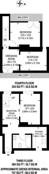 Large floorplan for Harmood Street, Chalk Farm, NW1