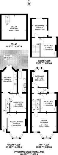 Large floorplan for St Mary Road, Walthamstow Village, E17