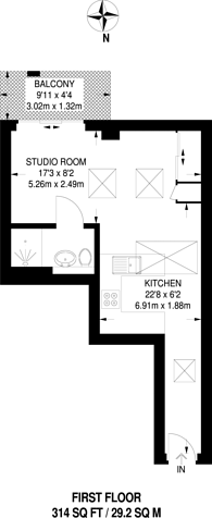 Large floorplan for Felgate Mews, Hammersmith, W6