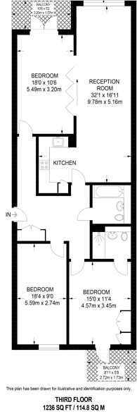 Large floorplan for Maygrove Road, West Hampstead, NW6