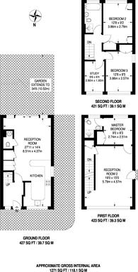 Large floorplan for Hatcliffe Close, Blackheath, SE3