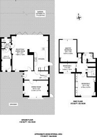 Large floorplan for Hillside Road, Northwood, HA6