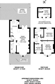 Large floorplan for Rushdene Avenue, Oakleigh Park, EN4