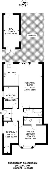 Large floorplan for Hillmarton Road, Hillmarton Conservation Area, N7