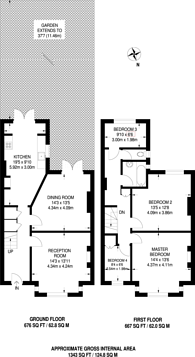 Large floorplan for Cleveleys Road, Clapton, E5