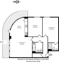 Large floorplan for Clayponds Lane, Brentford, TW8