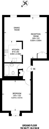Large floorplan for Jedbugh Road, Plaistow, E13