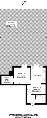 Large floorplan for Cricklewood Lane, Child's Hill, NW2