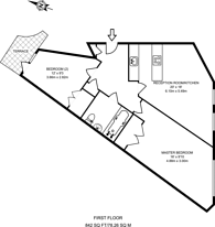 Large floorplan for Benwell Road, Holloway, N7
