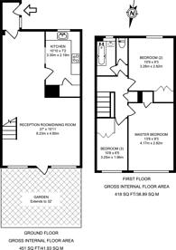 Large floorplan for Hazel Close, Peckham, SE15