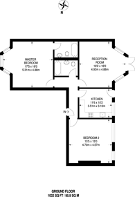 Large floorplan for Beulah Hill, Crystal Palace, SE19