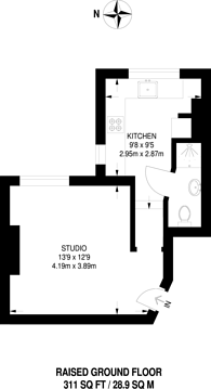 Large floorplan for Chippenham Road, Maida Vale, W9