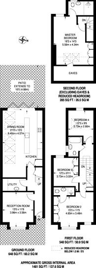 Large floorplan for Earlsmead Road, Kensal Green, NW10
