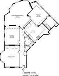Large floorplan for Onslow Square, South Kensington, SW7