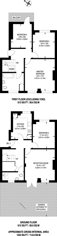 Large floorplan for Ferndale Road, Brixton, SW9