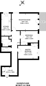 Large floorplan for Blair Court, St John's Wood, NW8