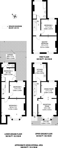 Large floorplan for Grummant Road, Peckham, SE15