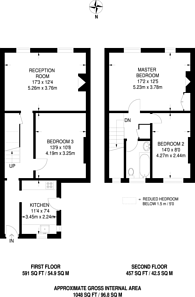 Large floorplan for Bowes Road, Arnos Grove, N11