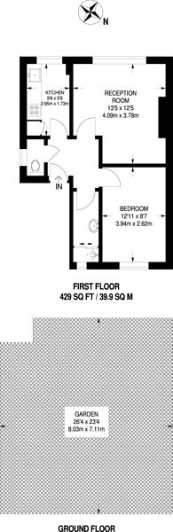 Large floorplan for Lordship Lane, Dulwich, SE22