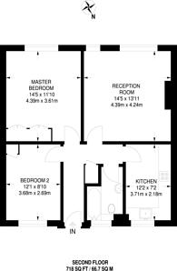 Large floorplan for High Road, Loughton, IG10