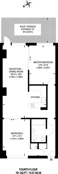 Large floorplan for Bridgepoint Lofts, Forest Gate, E7