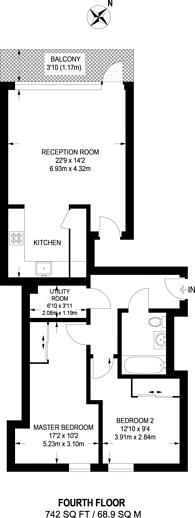 Large floorplan for Central Street, Clerkenwell, EC1V