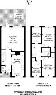 Large floorplan for Oriel Road, Hackney, E9