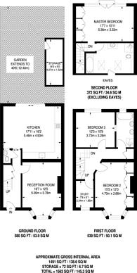 Large floorplan for Kingsdown Avenue, Northfields, W13