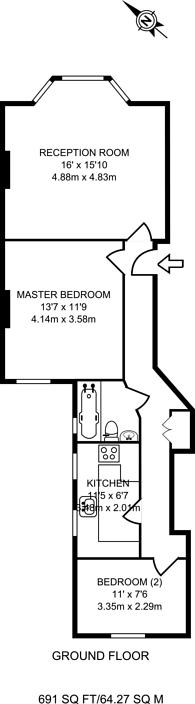 Large floorplan for Wymering Mansions, Maida Vale, W9