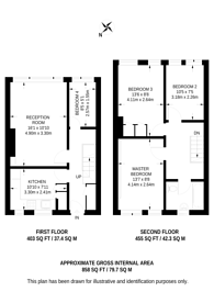 Large floorplan for Friary Road, Peckham, SE15
