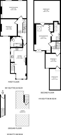 Large floorplan for Smeaton Road, Southfields, SW18