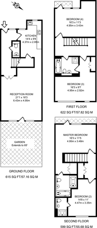 Large floorplan for Scott Avenue, Putney, SW15