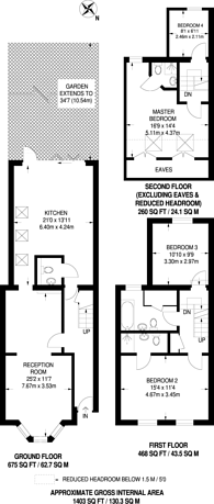 Large floorplan for Brookdale Road, Walthamstow, E17