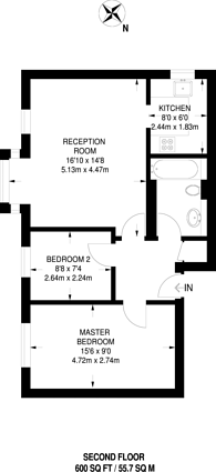 Large floorplan for Chamberlain Place, Higham Hill, E17
