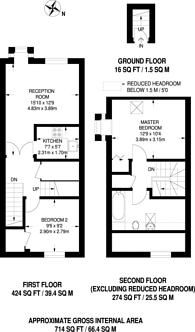 Large floorplan for Badgers Close, St Johns, GU21