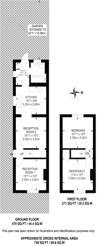 Large floorplan for Grange Road, Stoughton, GU2