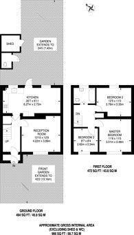 Large floorplan for Green Lanes, Stoke Newington, N4