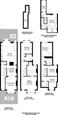 Large floorplan for Westover Road, Wandsworth, SW18
