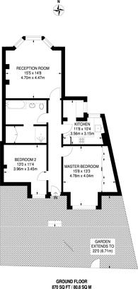 Large floorplan for Natal Road, Streatham, SW16
