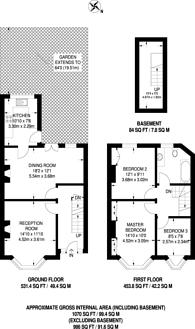 Large floorplan for Blunts Road, Eltham, SE9