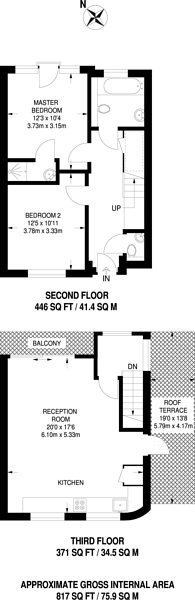 Large floorplan for Loampit Hill, Ladywell, SE13