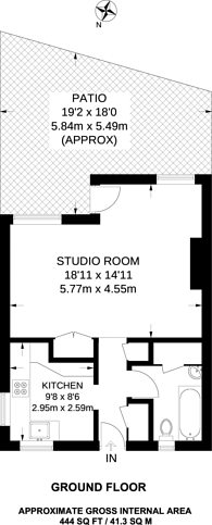 Large floorplan for Durham Row, Stepney, E1
