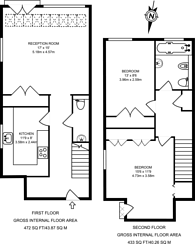 Large floorplan for Bywater Place, Rotherhithe, SE16