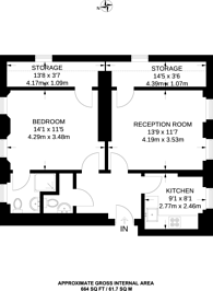 Large floorplan for Little Smith Street, Westminster, SW1P