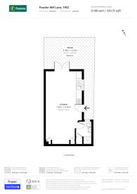 Large floorplan for Powder Mill Lane, Twickenham, TW2