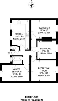 Large floorplan for Bishops Way, Bethnal Green, E2