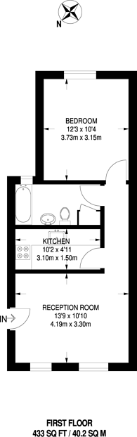 Large floorplan for Fairfoot Road, Bow, E3