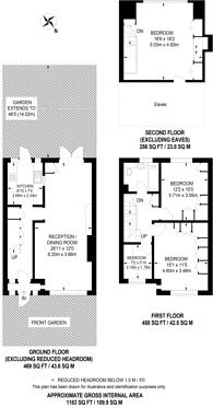 Large floorplan for Bouverie Road, West Harrow, HA1