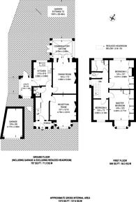Large floorplan for Priory Crescent, Sudbury, HA0